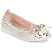 Chaussures Fille Ballerines / babies Citrouille et Compagnie GRAGON Beige pailleté