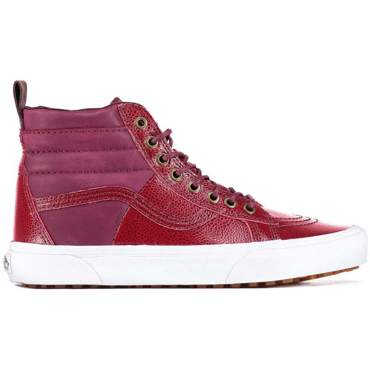 vans baskets sk8 h 46 mte cuir bordeaux femme bordeaux chaussures basket montante femme 95 83. Black Bedroom Furniture Sets. Home Design Ideas