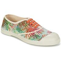 Chaussures Femme Baskets basses Bensimon TENNIS FEUILLES EXOTIQUES Ecru / Orange / Vert