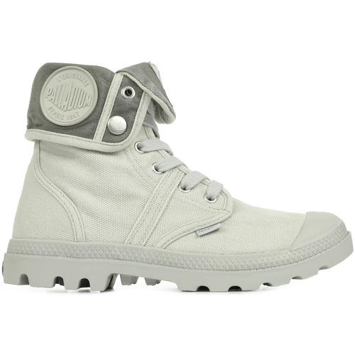 Chaussures Femme Baskets montantes Palladium US Baggy Vapor Metal W F gris