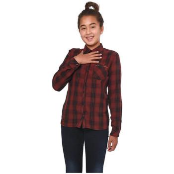 Vêtements Fille Chemises manches longues Kaporal Chemise  Plan Bordeaux Rouge