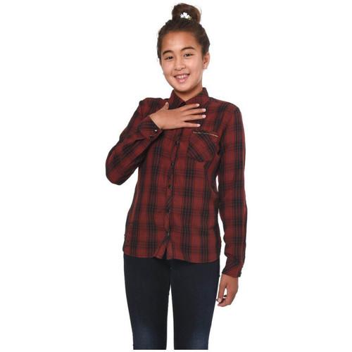 Vêtements Fille Chemises / Chemisiers Kaporal Chemise  Plan Bordeaux Rouge