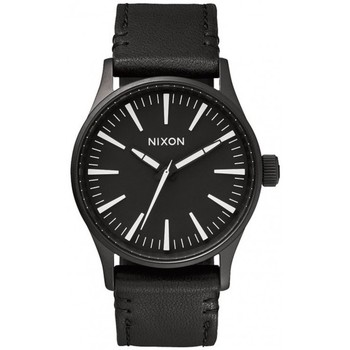 Montres & Bijoux Homme Montre Nixon Montre Sentry 38 Leather - Black / White Noir
