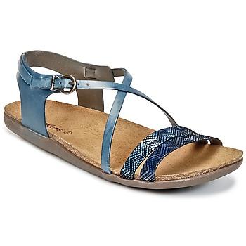 Chaussures Femme Sandales et Nu-pieds Kickers ATOMIUM Bleu Imprimé