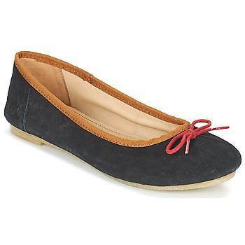 Chaussures Femme Ballerines / babies Kickers BAIE Noir / Rouge