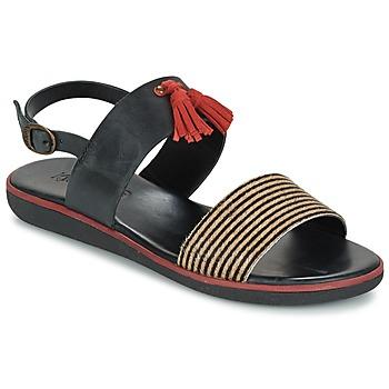 Chaussures Femme Sandales et Nu-pieds Kickers HYRO Noir / Rouge