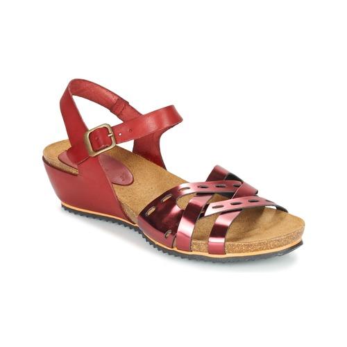 Chaussures Femme Sandales et Nu-pieds Kickers TOKANNE Rouge metalisé