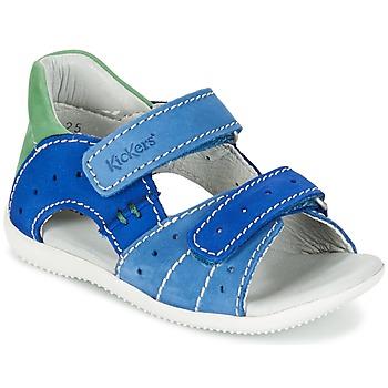 Chaussures Garçon Sandales et Nu-pieds Kickers BOPING Bleu / Vert