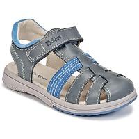 Chaussures Garçon Sandales et Nu-pieds Kickers PLATINIUM Bleu foncé / Bleu