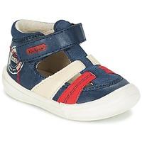 Chaussures Garçon Sandales et Nu-pieds Kickers ZOHAN Marine / Rouge