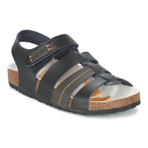 Chaussures Garçon Sandales et Nu-pieds Kickers MAGITEAM Noir