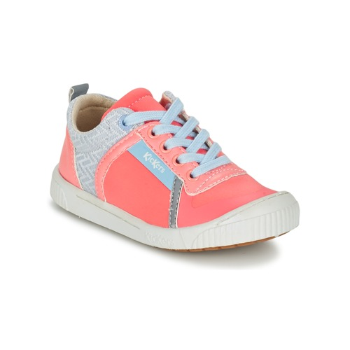 Chaussures Fille Baskets basses Kickers ZIGUY Corail / Bleu