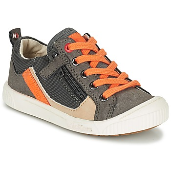 Chaussures Garçon Baskets basses Kickers ZIGZAGUER Gris / Orange
