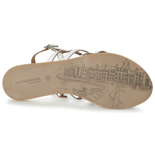 pieds Havapo Les Blanc Et Nu Tropéziennes Sandales Par M Femme Belarbi dBCxoWer