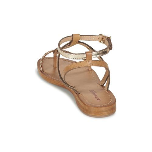 Femme Hilatres Les MarronDoré pieds Et Tropéziennes Par M Belarbi Sandales Nu VqzULMpGS