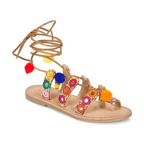 Chaussures Femme Sandales et Nu-pieds Les Tropéziennes par M Belarbi OREA Marron / Multicolore
