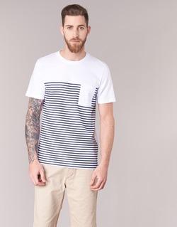 Vêtements Homme T-shirts manches courtes Jack & Jones APRIL CORE Blanc / Marine
