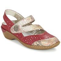 Chaussures Femme Sandales et Nu-pieds Rieker KOLIPEDI Rouge / Doré