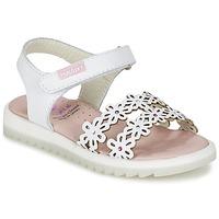 Chaussures Fille Sandales et Nu-pieds Pablosky COULOIME Blanc