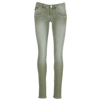 Vêtements Femme Pantalons 5 poches Freeman T.Porter ALEXA SLIM NEW MAGIC COLOR Kaki