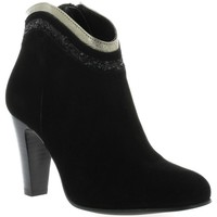 Chaussures Femme Bottines Sofia Costa Costa Boots cuir velours Noir