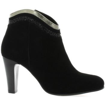 Chaussures Femme Boots Costa Boots cuir velours Noir