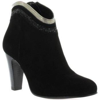 Bottines / Boots Costa Boots cuir velours Noir 350x350
