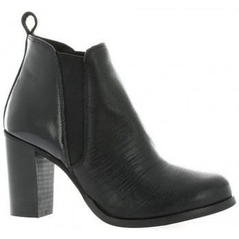 Chaussures Femme Boots Pao Boots cuir vernis Noir