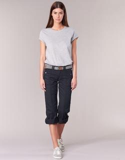 Vêtements Femme Pantalons 5 poches Esprit TURN UP Noir