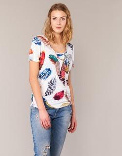 Vêtements Femme T-shirts manches courtes Derhy JACQUOT Blanc / Multicolore