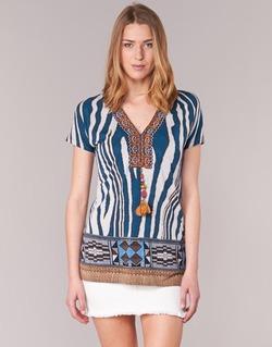 Vêtements Femme T-shirts manches courtes Derhy JAQUERIE Bleu