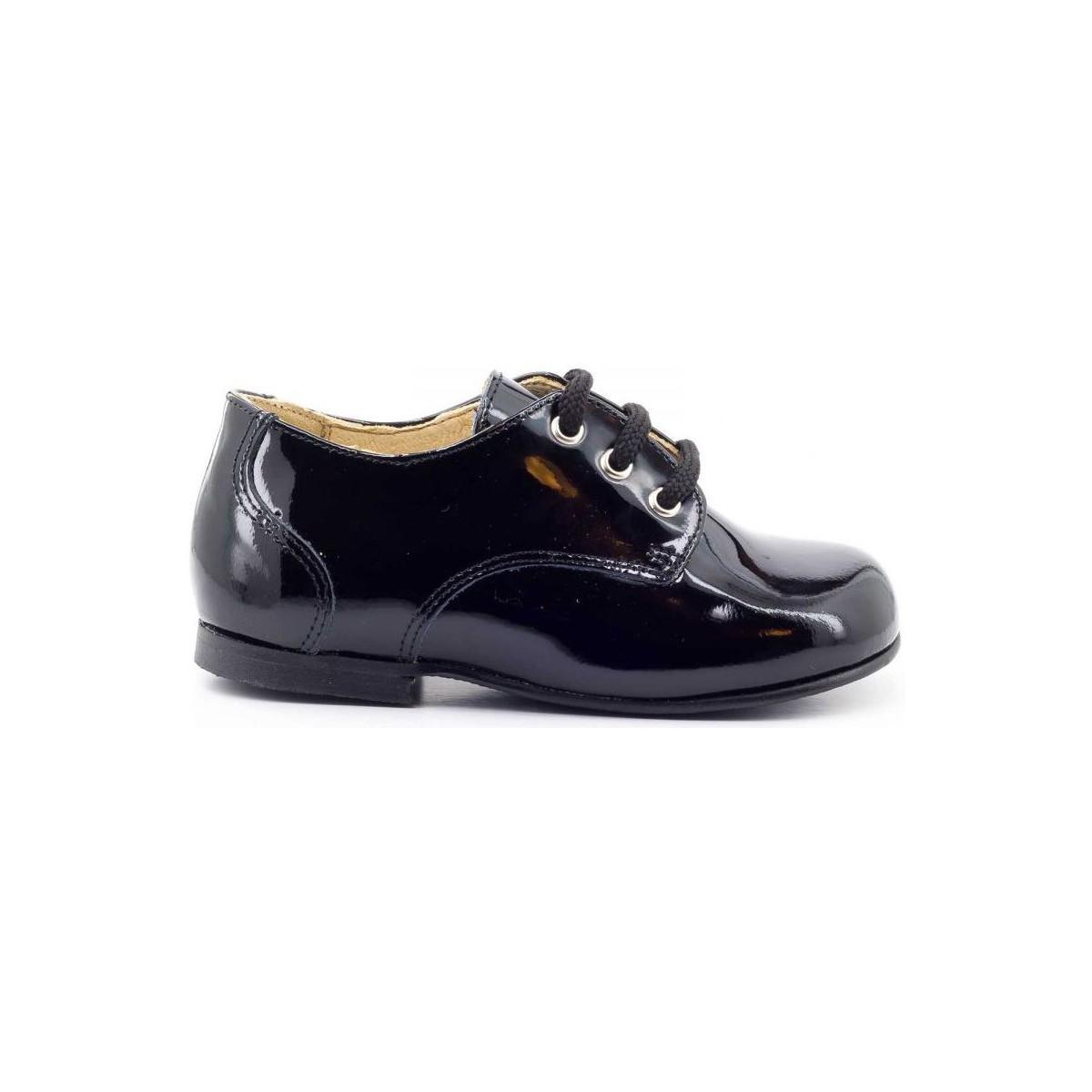 Chaussure-Ville Boni Classic Shoes Boni Mini-Philippe - chaussures bébé garçon Vernis Noir