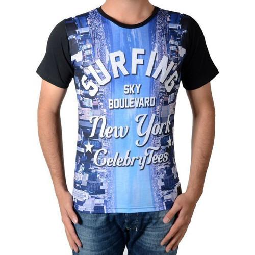 T-shirts & Polos Celebry Tees Tee Shirt  Surfing Noir Noir 350x350