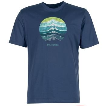 Vêtements Homme T-shirts manches courtes Columbia CSC MOUNTAIN SUNSET Bleu