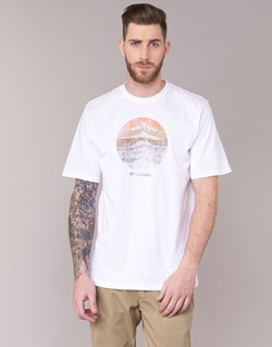 Vêtements Homme T-shirts manches courtes Columbia CSC MOUNTAIN SUNSET Blanc