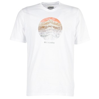 Vêtements Homme T-shirts manches courtes Columbia CSC MOUNTAIN SUNSET Blanc