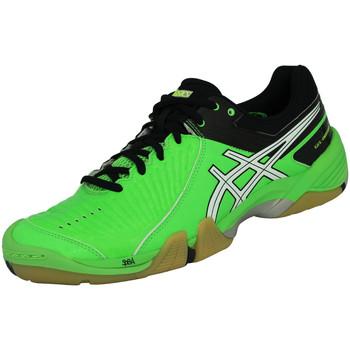 Baskets basses Asics GEL DOMAIN Chaussures de Handball Homme Vert Noir