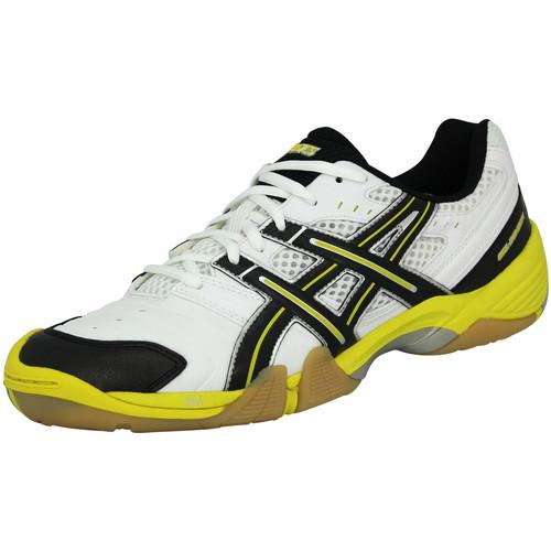 Baskets mode Asics GEL DOMAIN Chaussures de Handball Homme Blanc Noir Jaune blanc 350x350