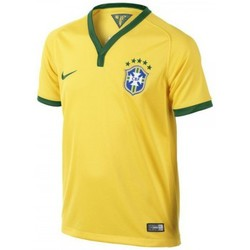 T-shirts manches courtes Nike Maillot  Junior Brasil CBF Stadium 2013/2014 - 575297-703