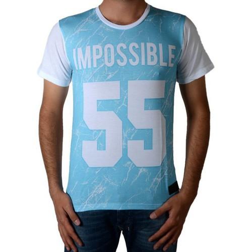 Vêtements Homme T-shirts & Polos Celebry Tees Tee Shirt  Crack Blanc / Bleu Blanc