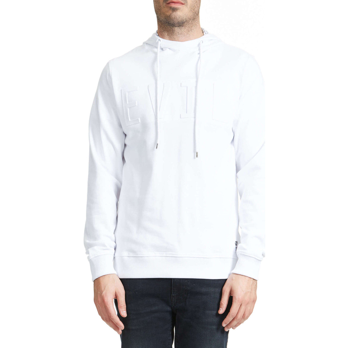 Jack & Jones Sweat Shirt Jack And Jones Dark Side Blanc Homme Blanc