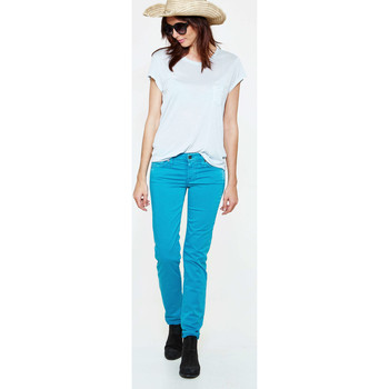 Jeans 7 for all Mankind Jeans Roxanne Slim Turquoise Femme