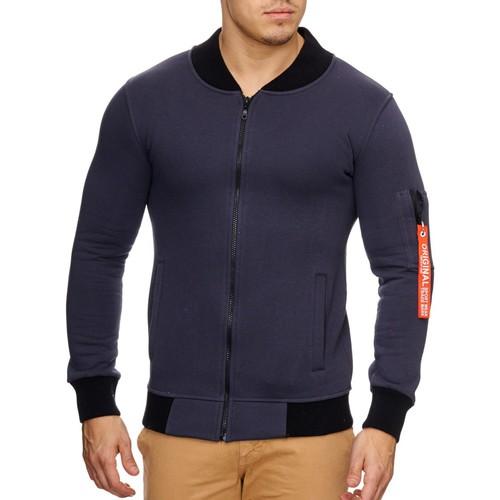 Vêtements Homme Vestes Violento Veste fashion unie pour homme Veste 795 gris foncé Gris