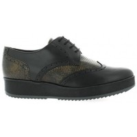 Chaussures Femme Derbies So Send Derby cuir serpent Noir