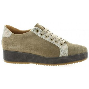 Chaussures Femme Baskets basses So Send Derby cuir velours Taupe