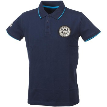 Polos manches courtes Freegun Ti 12 navy mc polo