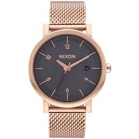 Montres & Bijoux Femme Montres Analogiques Nixon Montres  Rollo 38 SS - All Rose Gold / Charcoal Rose