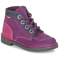 Chaussures Fille Boots Kickers KICK COLZ Violet / Marine / Rose