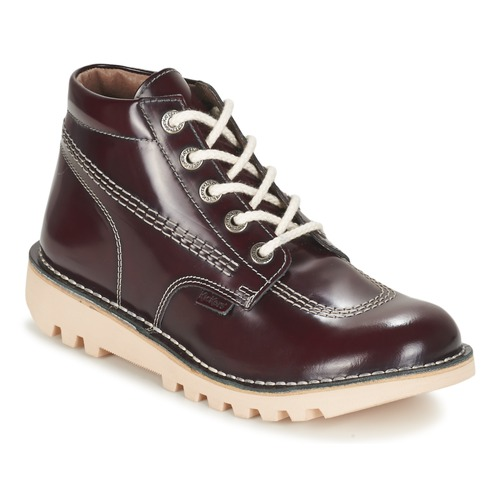 Chaussures Femme Boots Kickers NEORALLYE Bordeaux