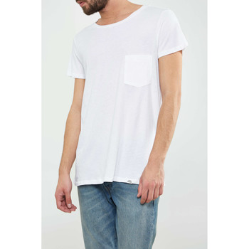 Vêtements Homme T-shirts manches courtes Cheap Monday Tee Shirt  Cap Pocket Blanc Homme Blanc